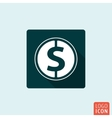 Money icon isolated vector image vector image