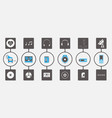music media infographic icon set vector image vector image