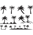Palm trees and islands vector image vector image