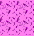 pattern of lilac curls on a pink background vector image vector image