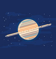 planet saturn in space in flat style vector image