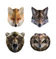 Polygonal animal heads vector image vector image
