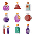 potion magic bottles fantasy flat gaming icon vector image