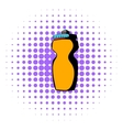reusable water bottle icon comics style vector image