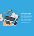 school education study symbol isolated university vector image