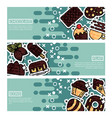 set horizontal banners about chocolate vector image vector image