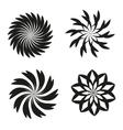 Set of elements for design-spiral flowers vector image