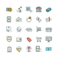 Shopping E-commerce iconsset vector image vector image
