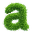 Small grass letter a on white background