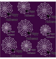spider web pattern for your design happy vector image