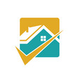 square home check logo vector image vector image