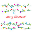 strings christmas light lamps vector image vector image