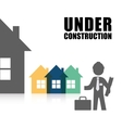 under construction professional architect vector image vector image