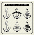 Vintage nautical anchors set label vector image vector image
