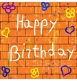 with happy birthday background vector image vector image