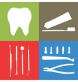 Background or banner teeth dental instruments vector image