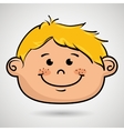 cartoon childhood face icon vector image