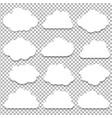 clouds big set vector image