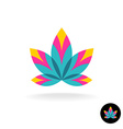 Colorful overlay five leaves zen or spa logo vector image