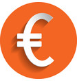euro icon paper style vector image