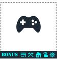 Joystick icon flat vector image