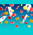 a big victory winning in the casino vector image vector image