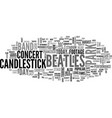 beatles candlestick park text word cloud concept vector image vector image