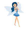 Beautiful fairy dances in her colorful outfits and