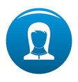 best female avatar icon blue vector image vector image