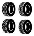 black tyre symbols vector image vector image