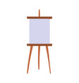 blank canvas on easel isolated icon design vector image
