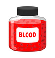 Blood Bank Bottle of Red liquid-lymph Gif vector image