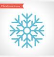 blue christmas snowflake vector image vector image