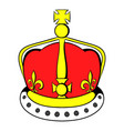 british crown icon cartoon vector image vector image