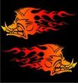 Burning Boar vector image vector image