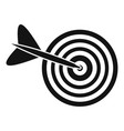 business target icon simple style vector image
