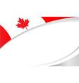 canadian flag maple leaf symbol frame banner vector image vector image