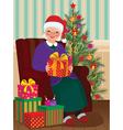 Christmas Gifts for Grandma vector image vector image