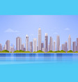 city skyscraper view cityscape background skyline vector image vector image