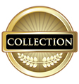 Collection Gold Vintage Label vector image vector image