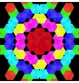 Colorful geometric pattern of hexagons vector image