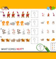 complete the pattern activity game vector image vector image