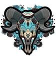 Cool Ram Skull vector image vector image
