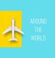creative of plane isolated on vector image