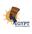 egypt rarities and antiquity niferititi bust and vector image vector image