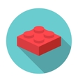 flat constructor block icon vector image
