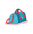 flat icon of large travel bag with red vector image vector image