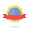 flat style badge icon vector image vector image