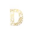 golden ornamental alphabet letter d font vector image vector image