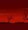 halloween scenery pumpkin grave background vector image vector image